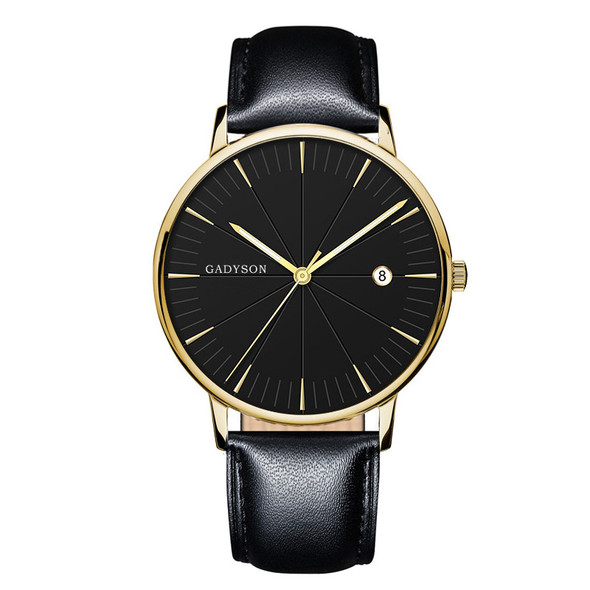 style: H - Europe And The United States New Simple Black Business Calendar Men Watch