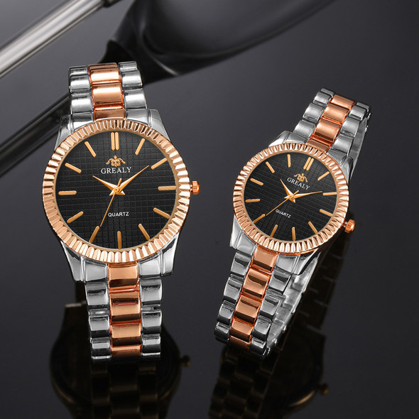 Color: Bright black gold, style: Small - Couple Watch 2019 Mens Watches Top Brand Luxury