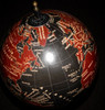 "21"" Black Sea Globe on Stand"