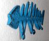 Rustic Blue Fish Bone Hooks