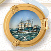 Small Portholes with Oil Paint Scenes