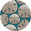 Aqua Sand Dollar Fine Designer Rugs