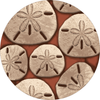 Round sand dollar rug