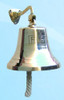 "8"" Fire Bell Brass Wall Bell"