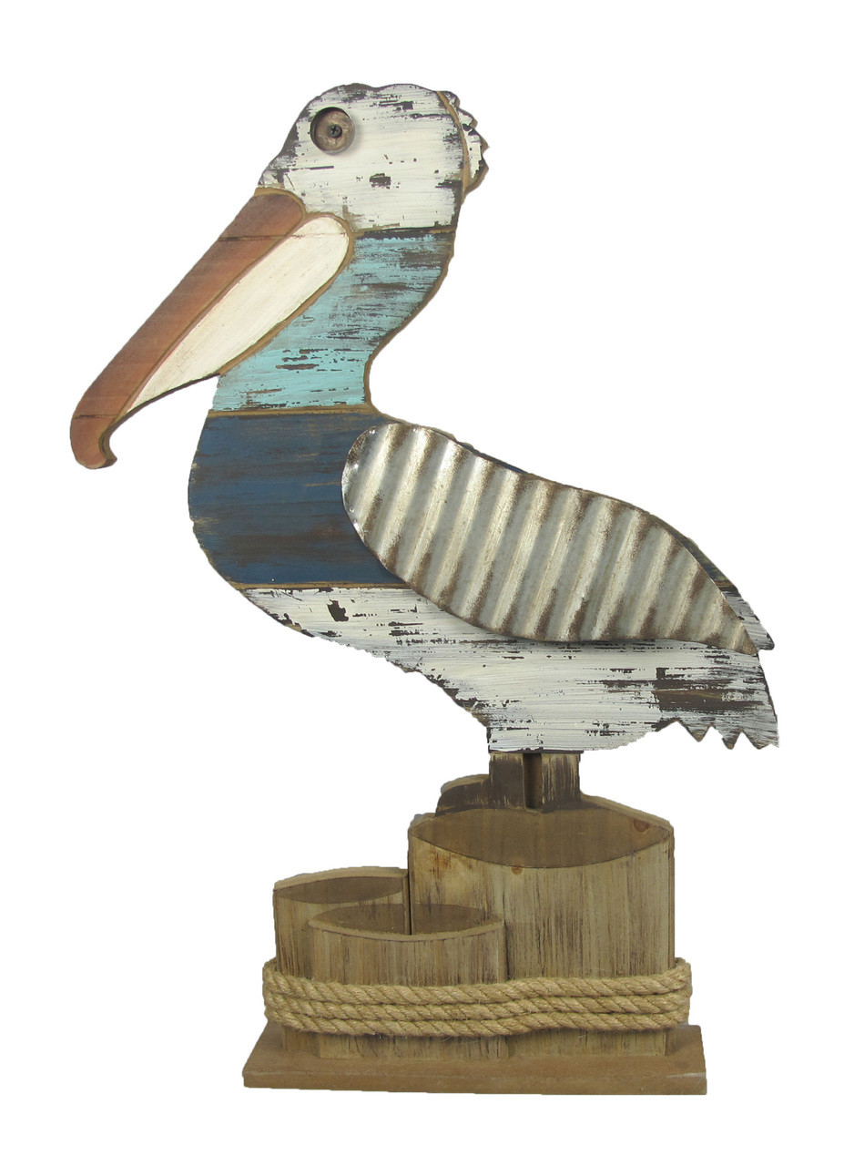 Wooden Seagull Statue Piling Stump