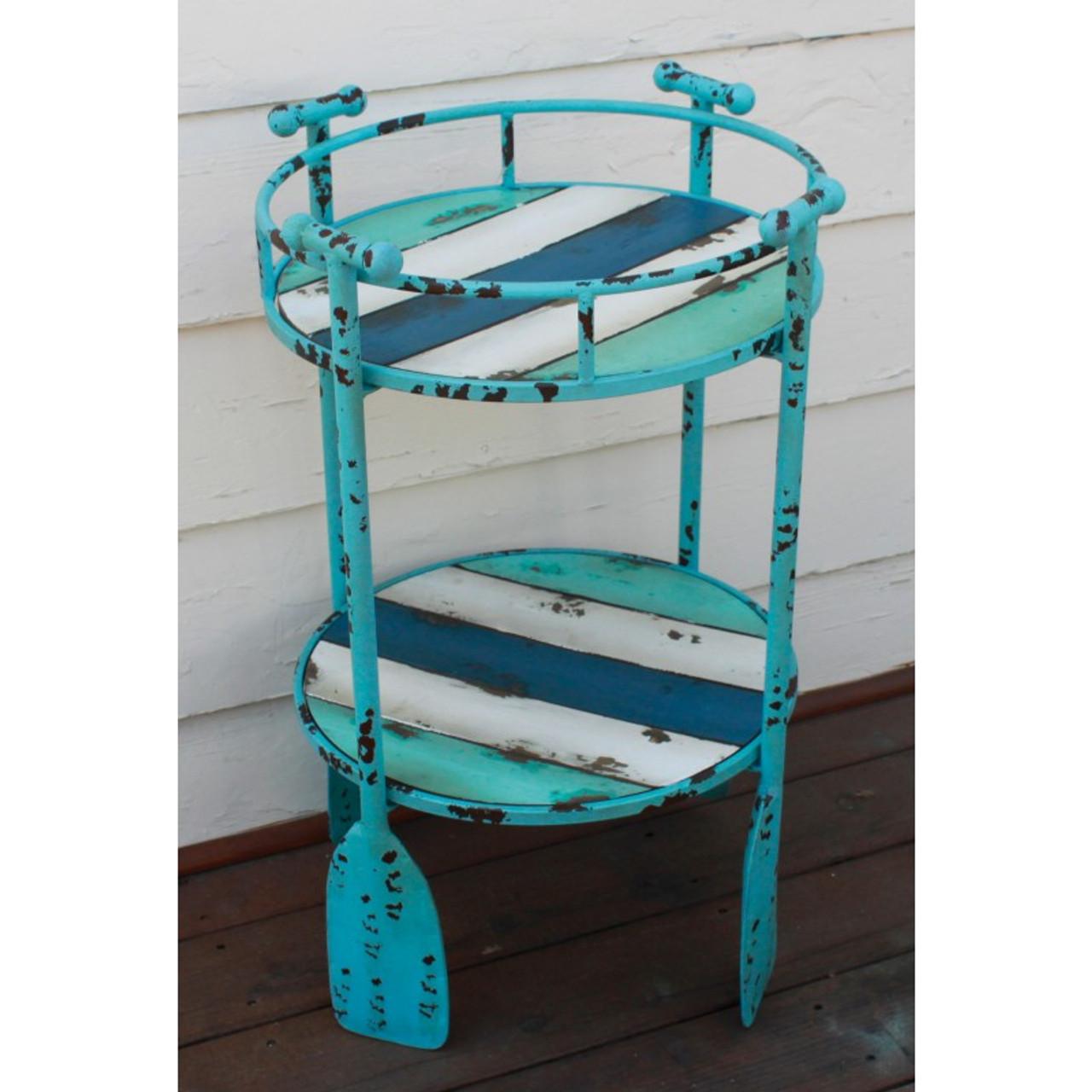 Nautical Table With Oar Legs