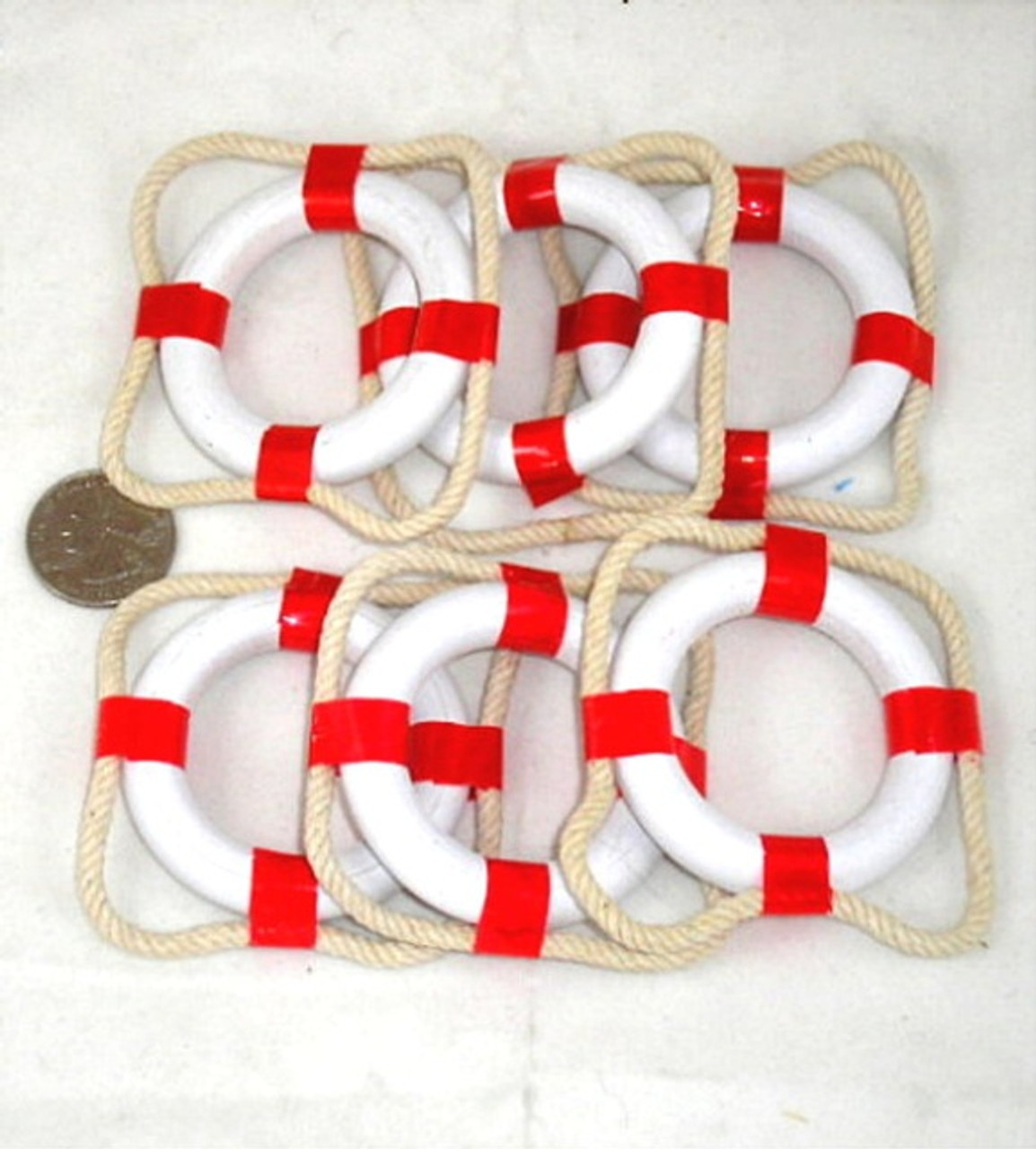 Red Napkin Rings Life Ring Preservers Buoys