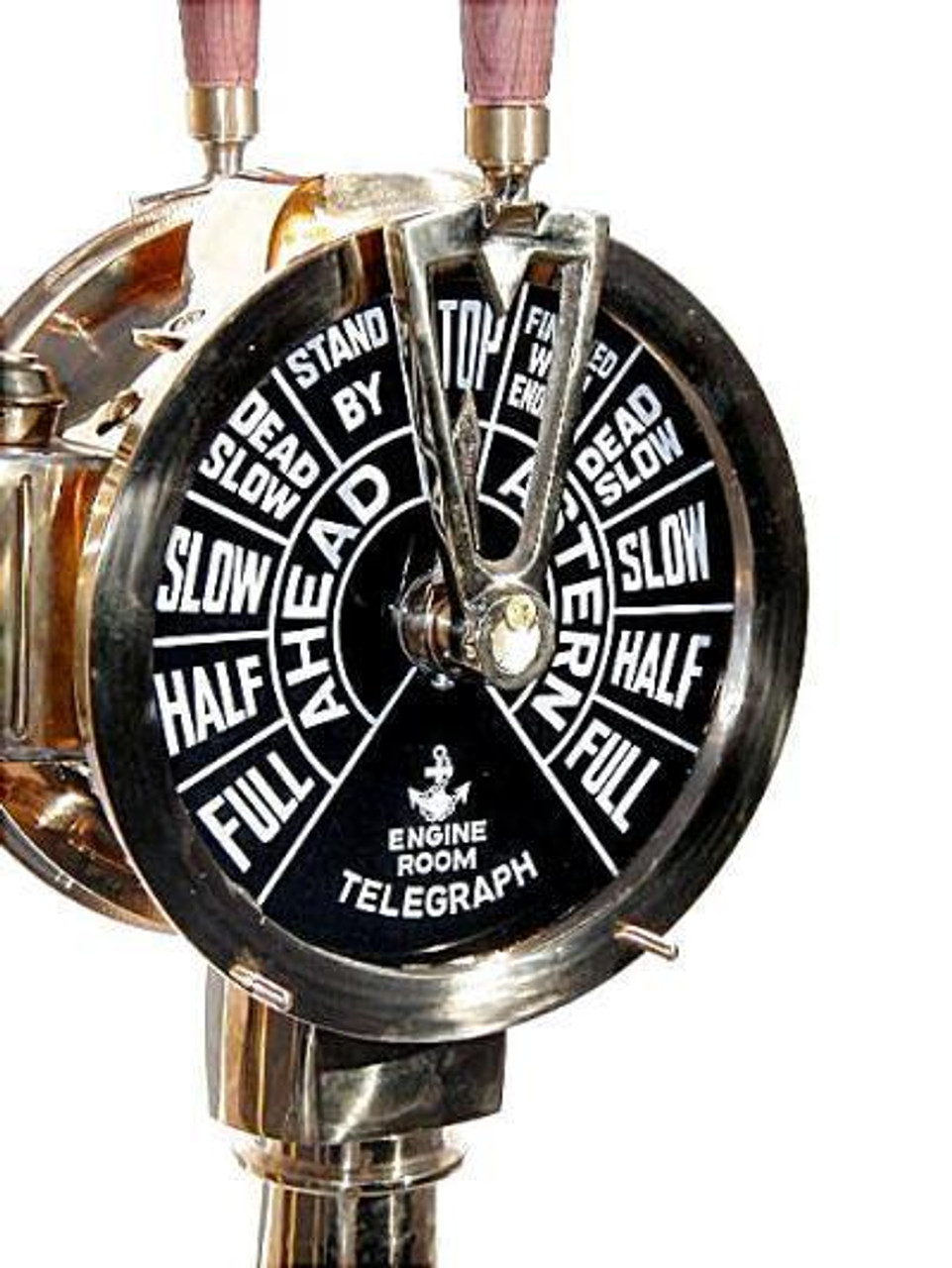 The Engine Room From Way Back: Large Brass Ship's Engine Order Telegraph