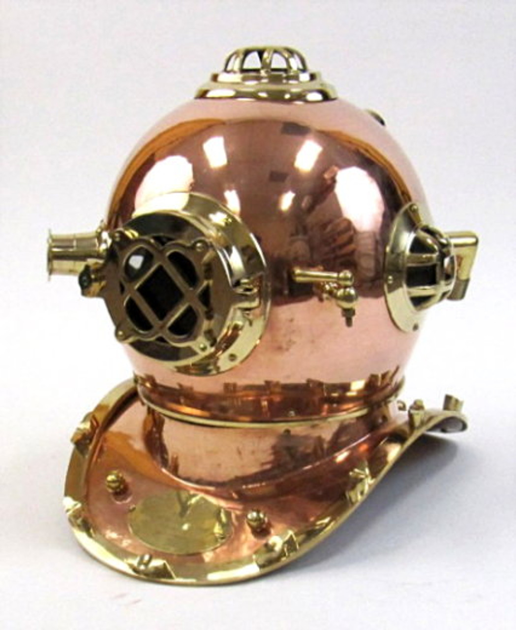 Hand Crafted Copper Scuba Morse Boston Brass Diving Helmet US Navy Divers Helme