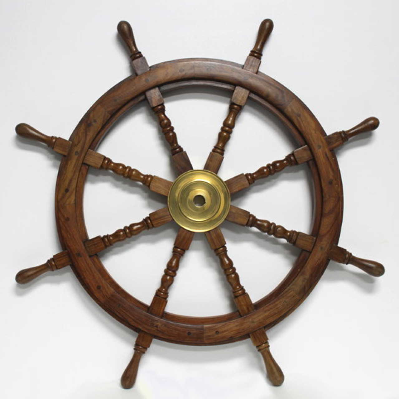 42 Nautical Heavy Wood Ship S Wheel