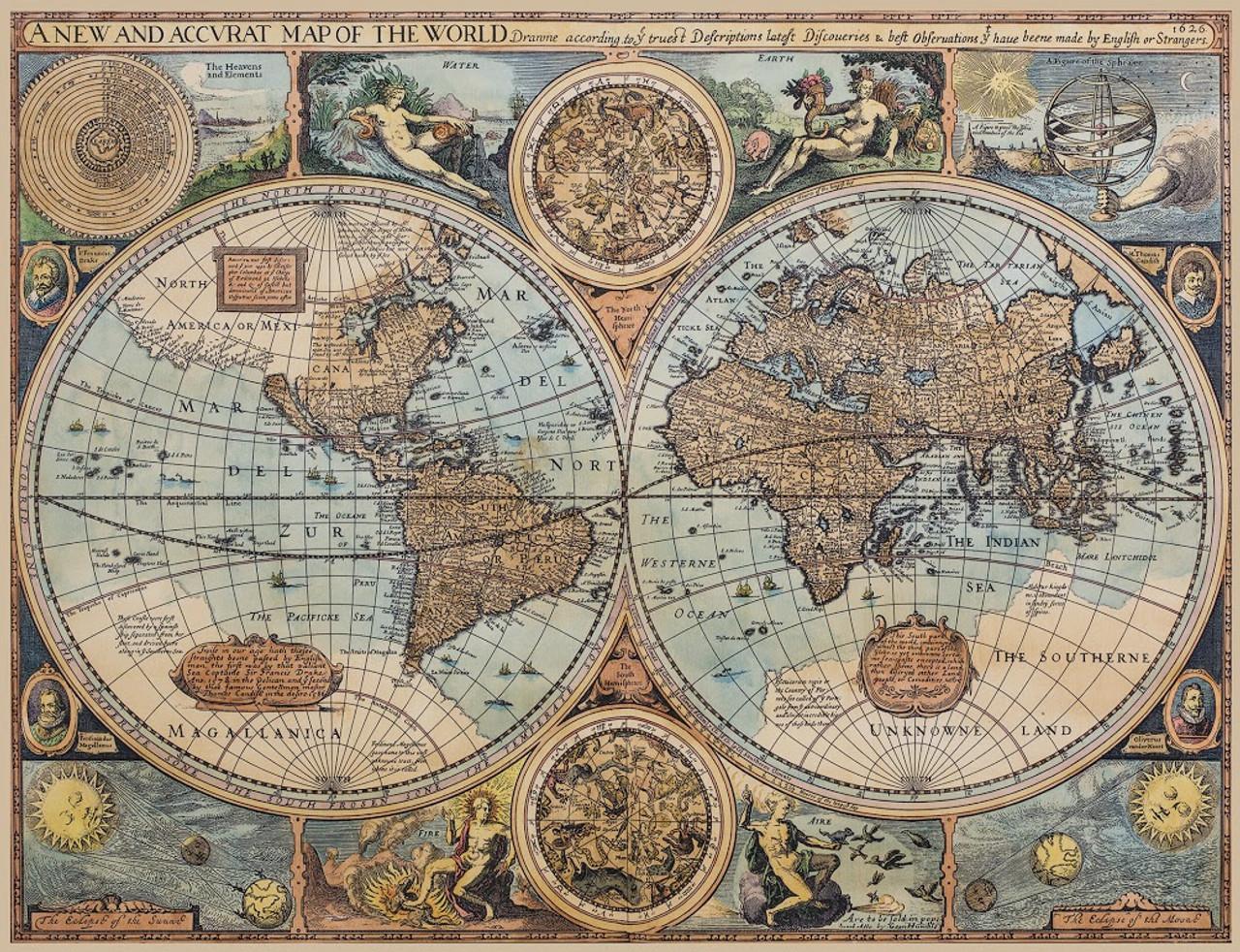 photo regarding Vintage World Map Printable titled Antiqued Nautical International Map Print