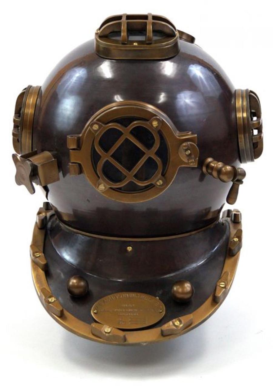 Boston Mass Antique US Navy Mark V Diving Divers Helmet