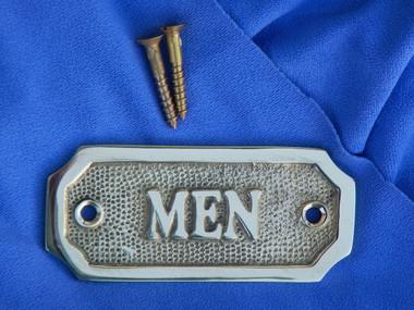 Men Brass Restroom Door