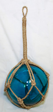 Large Blue Glass Fishing Float