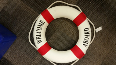 "20"" Welcome Life Preserver Ring Buoy Red _SD"