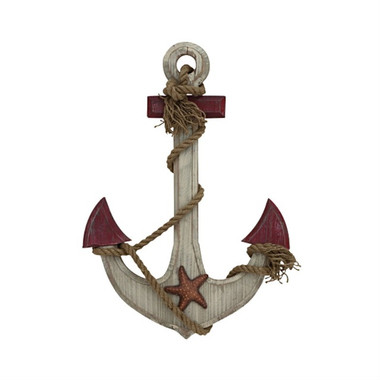 Antiqued 24 x 17 Wood Boat Anchor