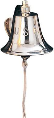"6"" Wide Brass US Navy Bell"