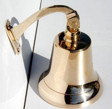 """8"""" Big Brass Nautical Wall Bell"""