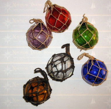 """2"""" to 5"""" Glass Netted Fishing Balls"""