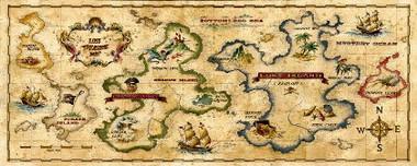 Treasure Map Pirate Murals