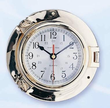 Brass Ship's Porthole Clocks