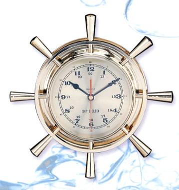 12 Inch Nautical Ships Wheel clock
