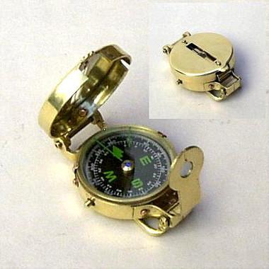 Brass Metal Pocket Compass