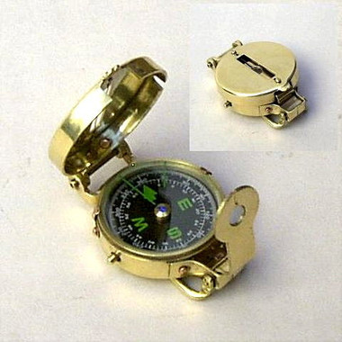 Brass Metal Pocket Compass