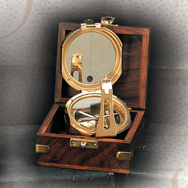 Brass Functional Compass in Rosewood