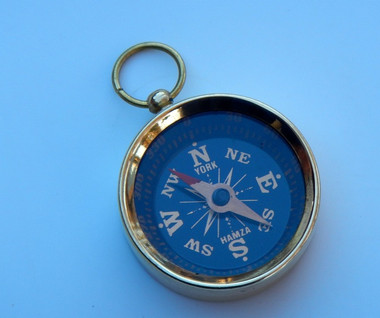 Small Brass Pocket Compass