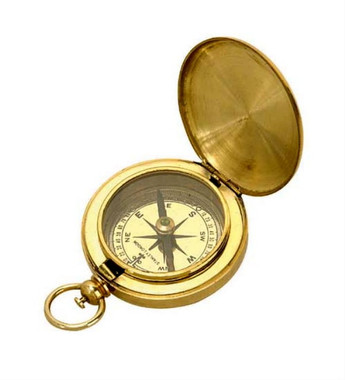 Solid Brass Pocket Compass