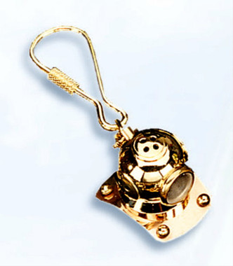 Mini Copper Brass Diver Helmet Key Chains