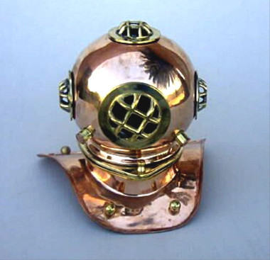 "8"" Nautical Brass & Copper Diving Helmet"