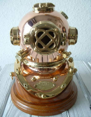 Mark V U.S. Navy Divers Diving Helmet & Base