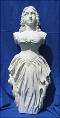 Unpainted Jenny Lind Ship's Figurehead