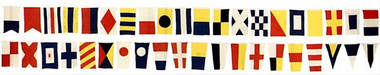 44 Foot Cotton Yachting Signal Flag Dress Line
