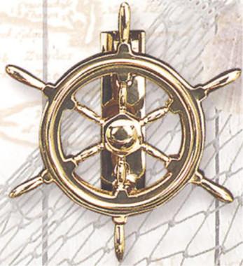 Brass Ships Wheel Door Knock