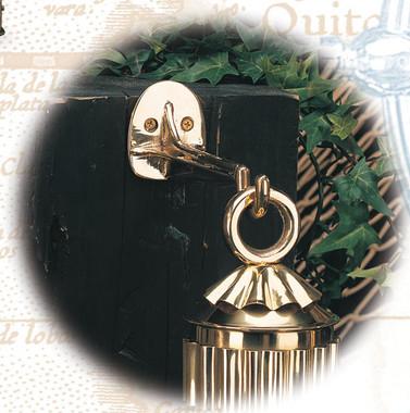 "6"" Brass Lantern Hanger Wall Mount"