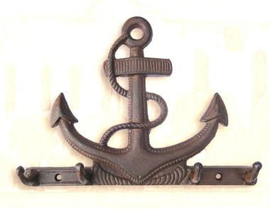 Iron Fouled Anchor Wall Hook