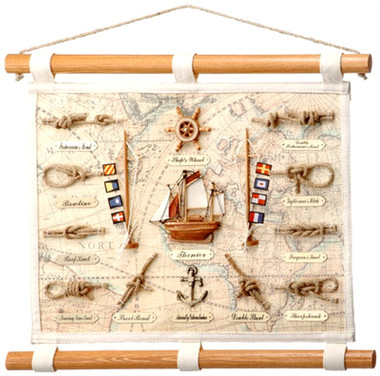 Nautical 18 x 14 Canvas Knot Display