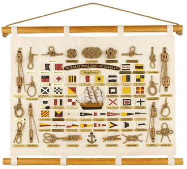 Nautical Canvas Signal Flag Knotboard 30 x 23
