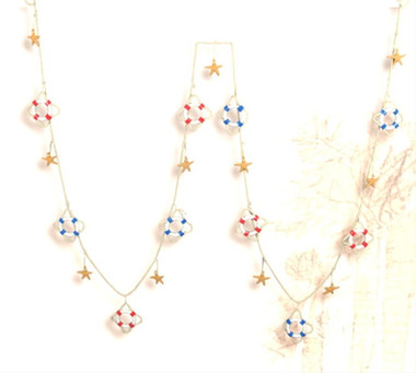 Lifering Starfish Garland Nautical Decoration