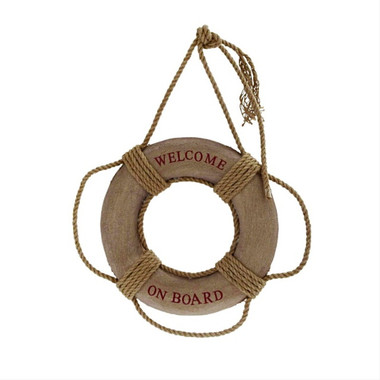 "14"" Welcome Onboard Ring Buoy Decoration"