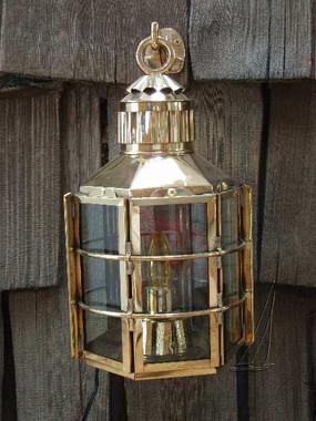 Brass Clipper Ship Anchor Light Touch Lantern