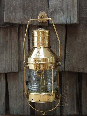 """14"""" Deluxe Nautical Brass Ship Anchor Light"""