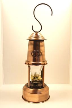 """9"""" Tin Oil Lamp Copper Finish"""