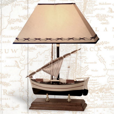 20 Inch Sailboat Lamp