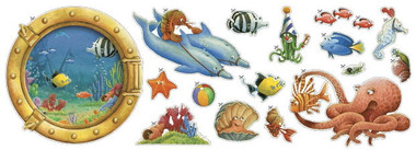 Fish Circus Cut Outs