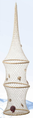 "41"" Hooped Fish Nets with Shells"