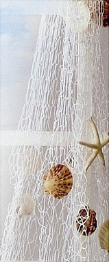 Draping Fish Net And Shells